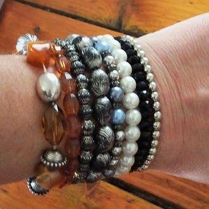 Jewelry - BUNDLE 8 Beads Pearls Rhinestone Bracelets